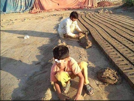 Free the people working in the brick factories, brick-kilns