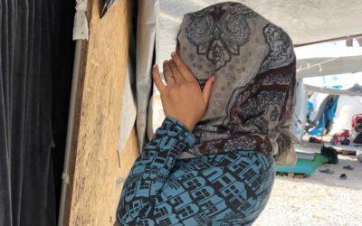 """I'M AFRAID"", says Esra, a woman on the run on Lesvos, Greece"