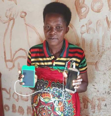 Solar lamps with mobile chargers for people in Burundi